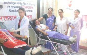 नर्सिङ्ग दिवसको अवसरमा सिकलसेल विरामीका लागि रक्तदान