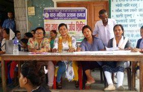 थारु महिला उत्थान समाजको स्वास्थ्य सिविरः ३४० जनाले लिए स्वास्थ्य सेवा